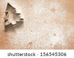 abstract christmas food... | Shutterstock . vector #156545306