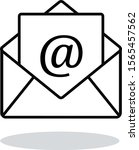 outline email icon. vector...