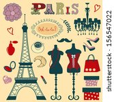 shopping in paris illustration | Shutterstock .eps vector #156547022