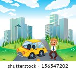 illustration of a worried owner ...   Shutterstock . vector #156547202