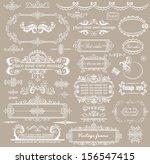 Stock vector beautiful wedding design 156547415