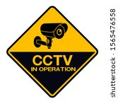 cctv camera. black video... | Shutterstock .eps vector #1565476558