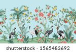 vintage chinoiserie  floral... | Shutterstock .eps vector #1565483692