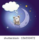 illustration of a gray bear... | Shutterstock . vector #156553472
