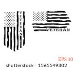 distressed american veteran... | Shutterstock .eps vector #1565549302