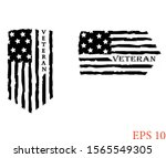 distressed american veteran... | Shutterstock .eps vector #1565549305