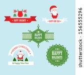 vector christmas set | Shutterstock .eps vector #156555296