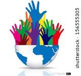 modern design graph. business... | Shutterstock .eps vector #156555305