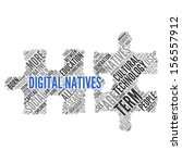 digital natives   concept... | Shutterstock . vector #156557912