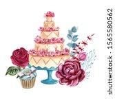 Illustration Of French Dessert...