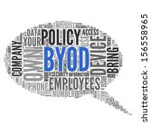 byod  bring your own device   ... | Shutterstock . vector #156558965