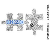 depression   concept wallpaper | Shutterstock . vector #156558986