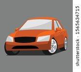 isolated car cartoon vector... | Shutterstock .eps vector #1565634715