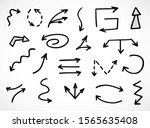 vector set of hand drawn arrows  | Shutterstock .eps vector #1565635408