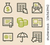 Banking Web Icons  Vintage...