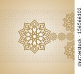 eid mubarak card arabic design | Shutterstock .eps vector #156566102
