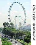 Aerial View Of Singapore Flyer  ...