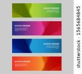 vector abstract design banner... | Shutterstock .eps vector #1565684845