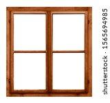 Vintage Brown Wooden Window...