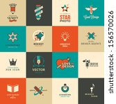 set of icons and stickers for... | Shutterstock .eps vector #156570026