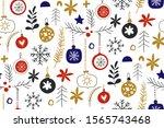 winter seamless repeat patterns ... | Shutterstock .eps vector #1565743468
