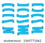 flat ribbons banners. vintage... | Shutterstock . vector #1565771062