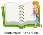 illustration of a girl and a... | Shutterstock . vector #156578486