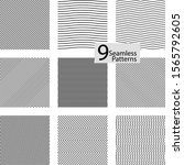 collection of striped seamless... | Shutterstock .eps vector #1565792605