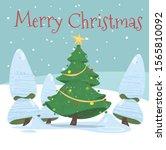 merry christmas postcard  cute... | Shutterstock .eps vector #1565810092
