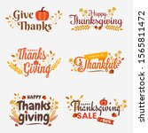 thanksgiving tags with... | Shutterstock .eps vector #1565811472