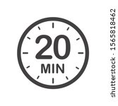 twenty minutes icon. symbol for ... | Shutterstock .eps vector #1565818462