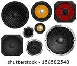 audio speakers in different...   Shutterstock .eps vector #156582548