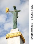 Small photo of BATUMI, ADJARA, GEORGIA - SEPTEMBER 14: Medea statue holding the Golden Fleece on September 14, 2013 in Batumi, one of the main Colchian cities. The statue is sculpted by architect Davit Khmaladze.