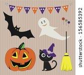 halloween | Shutterstock .eps vector #156585392
