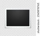 blank photo frame  isolated on... | Shutterstock .eps vector #1565878765
