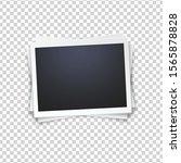 blank photo frame  isolated on... | Shutterstock .eps vector #1565878828
