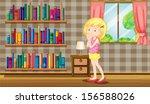 illustration of a girl inside a ... | Shutterstock . vector #156588026