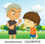 Illustration Of A Boy Scolding...