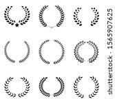 laurel wreath icon set. vintage ...   Shutterstock .eps vector #1565907625