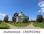 Orthodox Church in Goritsy, Russia monastery