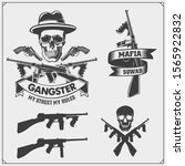 set of gangsters and mafia... | Shutterstock .eps vector #1565922832