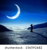 fantastic winter landscape with ... | Shutterstock . vector #156592682