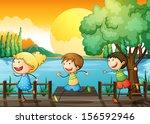 illustration of the children... | Shutterstock . vector #156592946