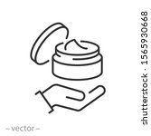 jar with cosmetic cream icon ... | Shutterstock .eps vector #1565930668
