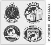 set of travel emblems  labels... | Shutterstock .eps vector #1565932318