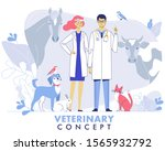 veterinary concept with... | Shutterstock .eps vector #1565932792