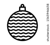 christmas bauble icon isolated...