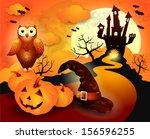 halloween background in orange  ...   Shutterstock .eps vector #156596255