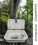 Old Rusty Washstand On The...