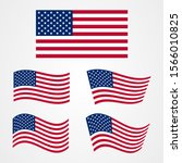 united states of america flag... | Shutterstock .eps vector #1566010825